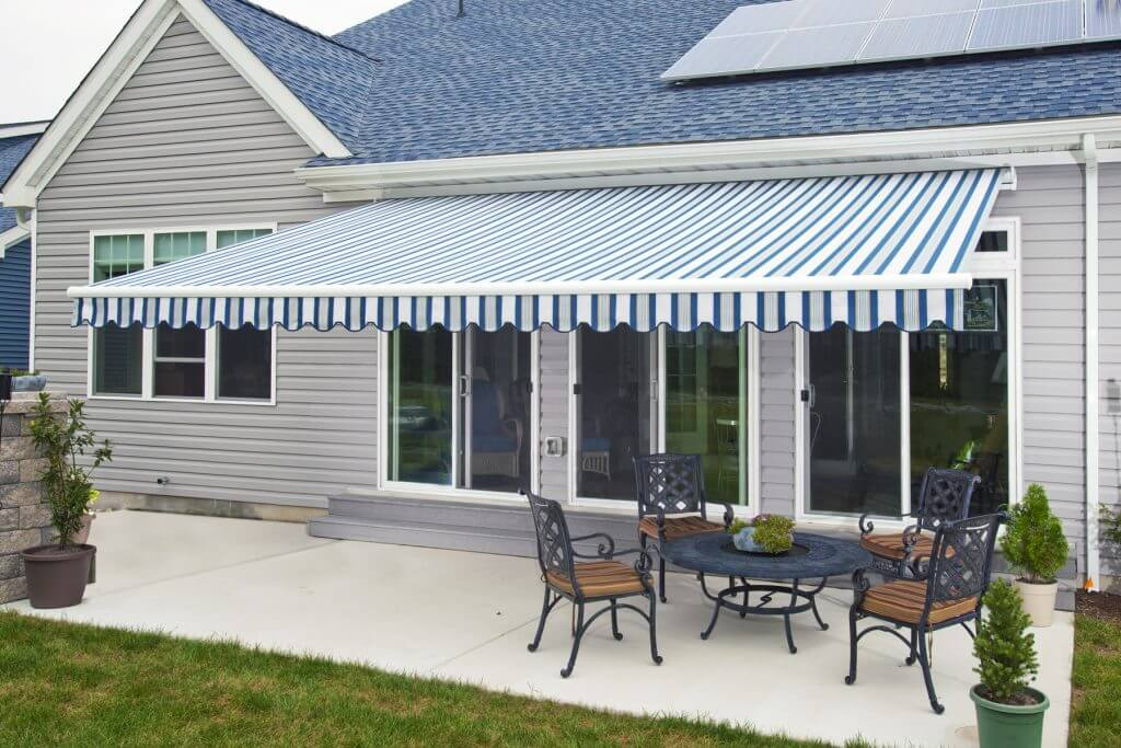 DIY Retractable Blue Awning