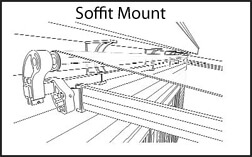 awning soffit mount